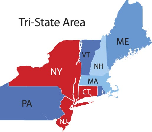 Tri State Area (NY, NJ, CT)
